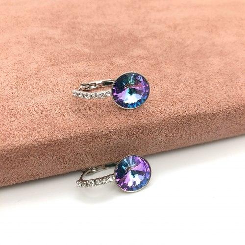 Серьги с кристаллом 31 S-0060