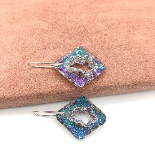 Серьги с кристаллом 33 S-0069