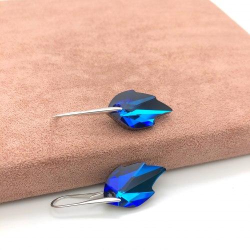 Серьги с кристаллом 37 S-0073