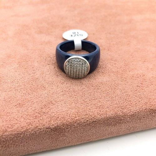 Кольцо из керамики 21 KER-0039