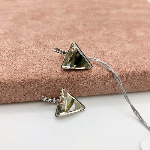 Серьги с кристаллом 44 S-00126