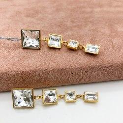 Серьги с кристаллом 45 S-00127