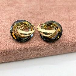 Серьги с кристаллом 48 S-00130