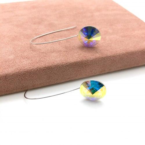 Серьги с кристаллом 62 S-00144