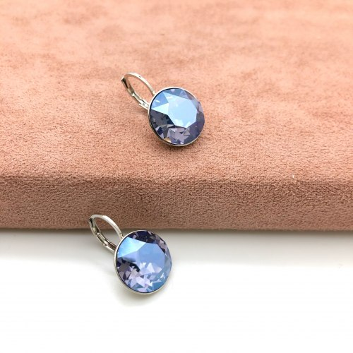 Серьги с кристаллом 64 S-00146