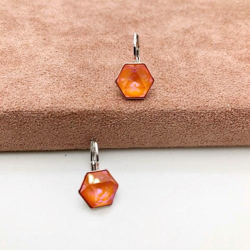 Серьги с кристаллом 70 S-00152