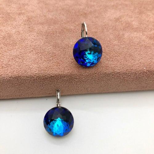 Серьги с кристаллом 71 S-00153