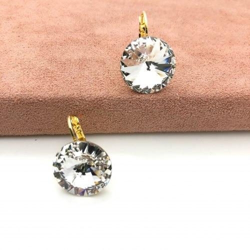 Серьги с кристаллом Сваровски 4 S-00157