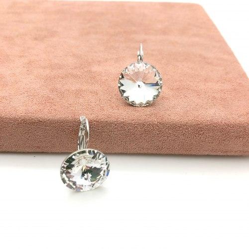 Серьги с кристаллом Сваровски 5 S-00158