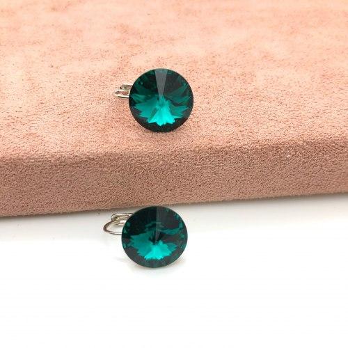 Серьги с кристаллом Сваровски 23 S-00176