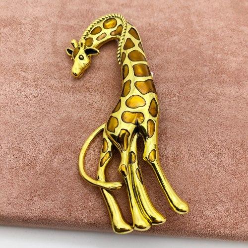 Брошь Жираф В-008