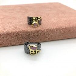 Серьги с натуральными камнями 7 S-00204