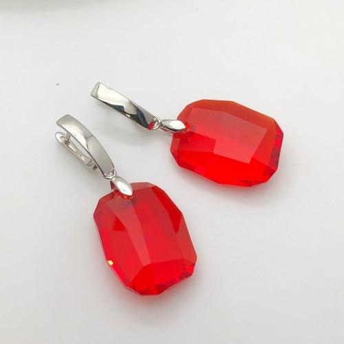 Серьги с кристаллами Сваровски 37 S-00217