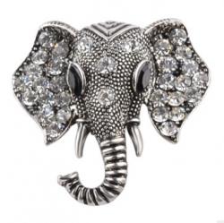Брошь Слон в серебре b-039