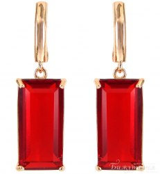 Серьги Позолота красные s-132