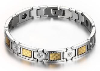 Титановый магнитный браслет bc-073