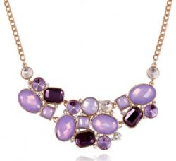 Колье фиолетовое с кристаллами ko-065