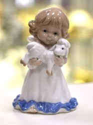 "Статуэтка ""Ангелочек с ягненком"" Pavone Art.10179"