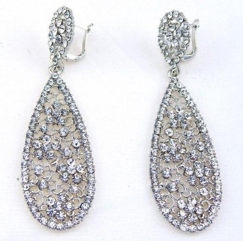 Серьги свадебные в серебре-33 s-136
