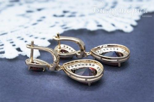 Комплект Бордо с 18К золотом kt-011