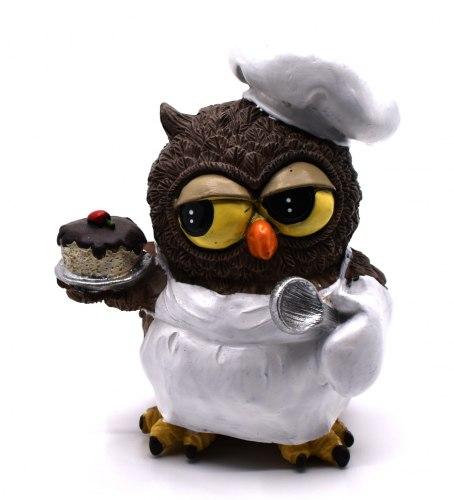 Фигурка Сова повар art.10218