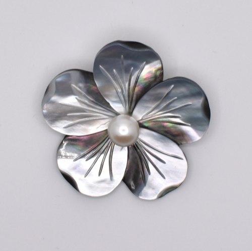 Брошь Цветок перламутр с. b-079