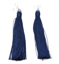 Серьги Кисточки синие s-152