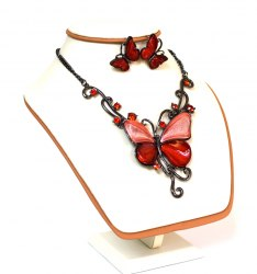 Комплект Бабочка красная Корея kt-015