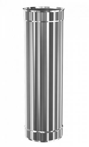 Труба дымохода нержавеющая Теплодар ду-150мм Стандарт 0,5 метра
