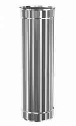 Труба дымохода нержавеющая Теплодар ду-150мм Профи 0,5 метра