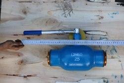 Кран шаровой полнопроходной под приварку ду-65 ру-25 ручной