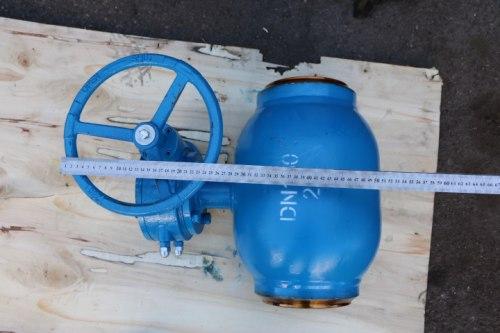 Кран шаровой полнопроходной под приварку ду-100 ру-25 с редуктором