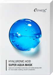 НАБОР Тканевая маска для лица ГИАЛУРОНОАЯ КИСЛОТА , 25 мл* 5шт Esthetic House Hyaluronic Acid Super Aqua Mask