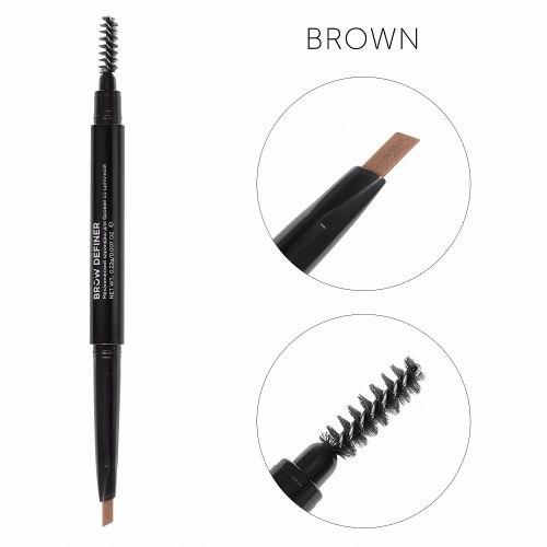 Механический карандаш для бровей со щёточкой Brow Definer Lucas Cosmetics