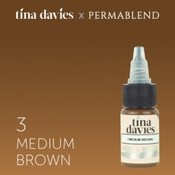 "Пигмент для татуажа бровей Perma Blend / Tina Davies оттенок ""I Love INK"" 3 Medium Brown"