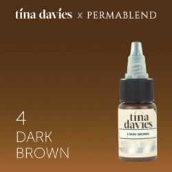 "Пигмент для татуажа бровей Perma Blend / Tina Davies оттенок ""I Love INK"" 4 Dark Brown"