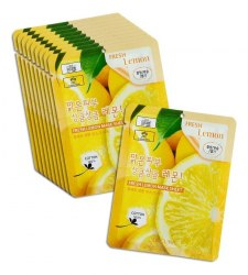 Тканевая маска для лица ЛИМОН , 1 шт 3W CLINIC Fresh Lemon Mask Sheet