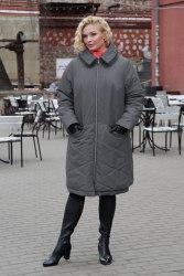 Пальто женское утепленное цвет серый Bugalux Модель 950