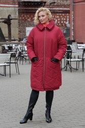 Пальто женское утепленное цвет марсала Bugalux Модель 950