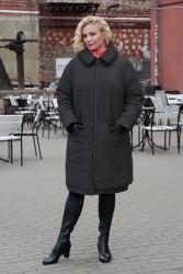 Пальто женское утепленное цвет черный Bugalux Модель 950
