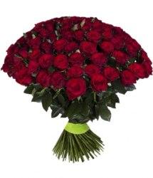 Красная роза 101 шт - 80 см
