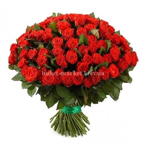 Букет красные розы 101 шт - 70 см