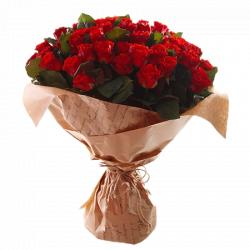 Букет из красных роз Эль Торо 51 шт, 60 см