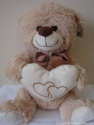 Медведь с сердцем, 33 см