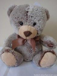 Медвежонок плюш коричневый, 15 см