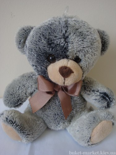 Медвежонок плюш серый, 15 см
