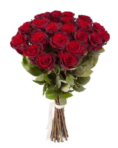 Букет из красных роз Престиж 25 шт, 70 см