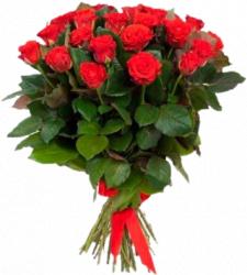 Букет из красных роз Эль Торо 25 шт, 60 см