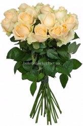 Букет из кремовых роз Пич Аваланч 25 шт, 50 см