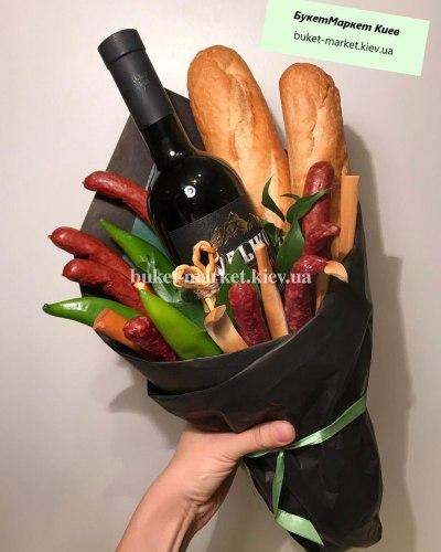 "Букет с вином ""Саперави"""